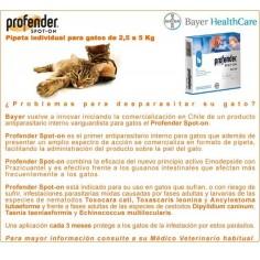 Profender ® Antiparasitario en pipeta para Gatos 2.5 a 5Kg.